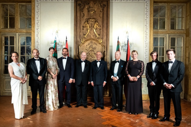 Banqquet hosted by the President of the Portuguess Republic in honor of His Highness Prince Karim Aga Khan at the National Palace of Queluz. Image Credit: Presidency of the Portuguese Republic