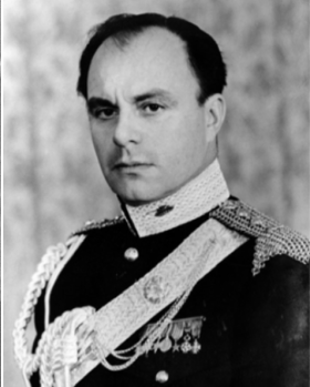 Prince Aly Khan in full regalia